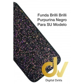 S20 Ultra Samsung Funda Brilli Brilli Purpurina NEGRO