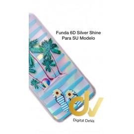 DV IPHONE XR 6.1 FUNDA 6D SILVER SHINE PALMERAS