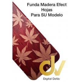 DV A6 PLUS 2018 SAMSUNG FUNDA WOOD EFFECT MARIHUANA