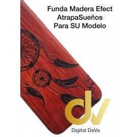 DV A6 PLUS 2018 SAMSUNG FUNDA WOOD EFFECT ATRAPA SUEÑO