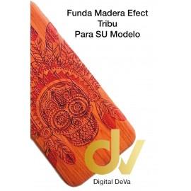 DV A6 PLUS 2018 SAMSUNG FUNDA WOOD EFFECT CALAVERA PLUMAS