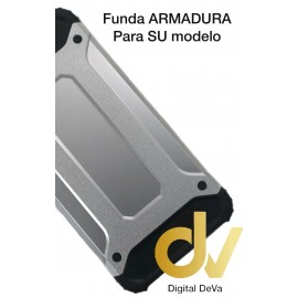 DV  A6 2018 SAMSUNG  FUNDA ARMADURA PLATA