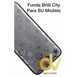 DV A40 SAMSUNG FUNDA ESTRELLAS DEL CITY SHINE  PLATA