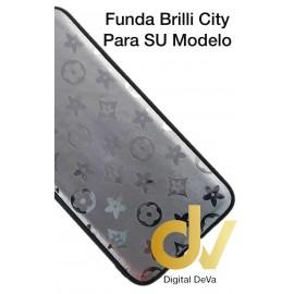 DV A7 2018 SAMSUNG FUNDA ESTRELLAS DEL CITY SHINE  PLATA