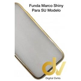 DV A8 2018  SAMSUNG  FUNDA CROMADO MARCO SHINY DORADO