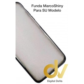 FUNDA CROMADO MARCO SHINY IPHONE XS MAX GRIS