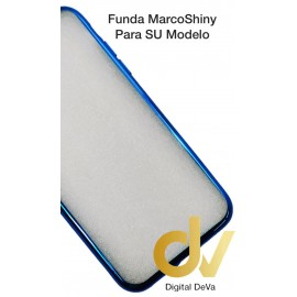 FUNDA CROMADO MARCO SHINY IPHONE XS MAX AZUL