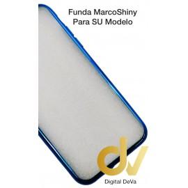 DV NOTE 9  SAMSUNG  FUNDA CROMADO MARCO SHINY  AZUL