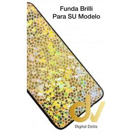 DV A7 2018 SAMSUNG  FUNDA BRILLI STARS  DORADO