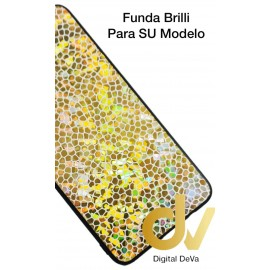 DV A7 2018 SAMSUNG  FUNDA BRILLI LGP DORADO