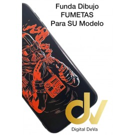 DV J6 PLUS  SAMSUNG  FUNDA DIBUJO RELIEVE 5D MASCARA ROJO