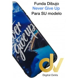 DV A6 2018 SAMSUNG FUNDA DIBUJO RELIEVE 5D NEVER GIVE UP