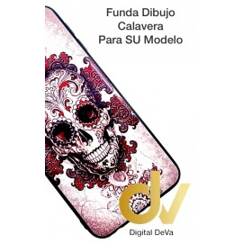 DV J6 PLUS  SAMSUNG  FUNDA DIBUJO RELIEVE 5D CALAVERA