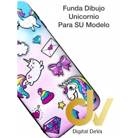DV J6 PLUS  SAMSUNG  FUNDA DIBUJO RELIEVE 5D UNICORNIOS