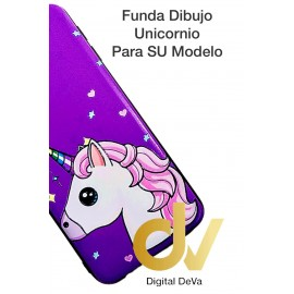 DV J6 PLUS  SAMSUNG  FUNDA DIBUJO RELIEVE 5D UNICORNIO