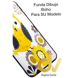 DV J6 PLUS  SAMSUNG  FUNDA DIBUJO RELIEVE 5D BUHO