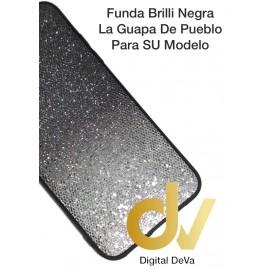 DV  A7 2018  SAMSUNG  FUNDA BRILLI TORNASOLES NEGRO