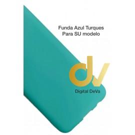 DV A01 SAMSUNG FUNDA Silicona AZUL TURQUES