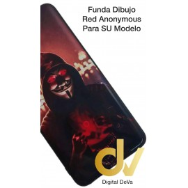 P40 HUAWEI Funda Dibujo 5D RED ANONYMOUS