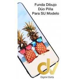 DV P40 LITE  HUAWEI FUNDA DIBUJO RELIEVE 5D DUO PIÑA