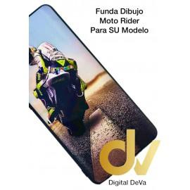 DV P40 LITE  HUAWEI FUNDA DIBUJO RELIEVE 5D MOTO RIDER