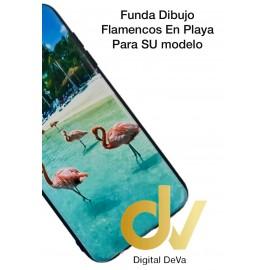 Y5 2019 HUAWEI Funda Dibujo 5D FLAMENCOS Playa