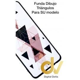 A10 Samsung Funda Dibujo 5D TRIANGULOS