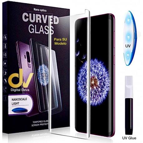S20 Ultra Sam UV Cristal Curvado Pegamento Completo