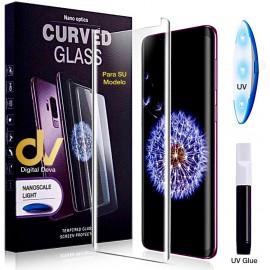 S8 Plus Sam UV Cristal Curvado Pegamento Completo