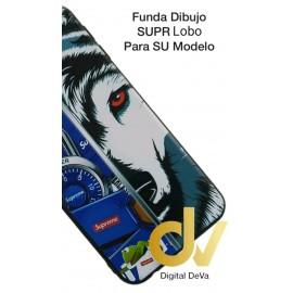 DV  J4 PLUS  SAMSUNG  FUNDA DIBUJO RELIEVE 5D LOBO SUPR