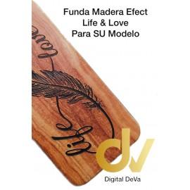 DV A6 PLUS 2018 SAMSUNG FUNDA WOOD EFFECT LIFE LOVE