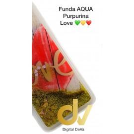 DV A6 PLUS 2018 SAMSUNG FUNDA AGUA  PURPURINA LOVE