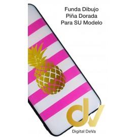A30 Samsung Funda Dibujo 5D Piña Dorada