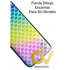 A30 Samsung Funda Dibujo 5D Escamas