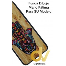 DV A8 2018  SAMSUNG  FUNDA DIBUJO RELIEVE 5D MANO FATIMA