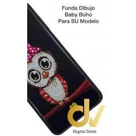 DV A8 2018  SAMSUNG  FUNDA DIBUJO RELIEVE 5D BUHO
