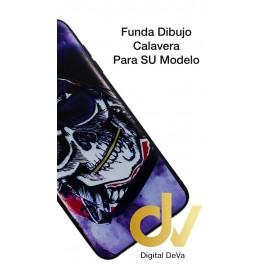 DV A6 PLUS 2018 SAMSUNG FUNDA  DIBUJO RELIEVE 5D CALAVERA