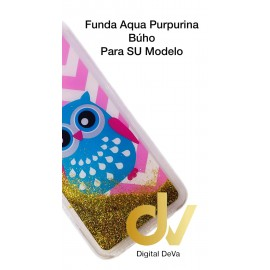 DV J4 PLUS  SAMSUNG FUNDA AGUA PURPURINA BUHO ROSA