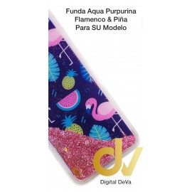 S9 Plus Samsung Funda Agua Purpurina FLAMENCO & PIÑA