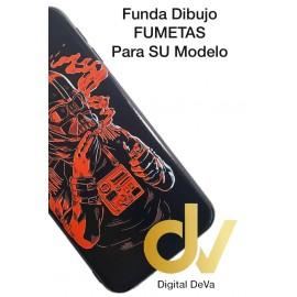 DV  A7 2018  SAMSUNG FUNDA DIBUJO RELIEVE 5D MASCARA ROJA