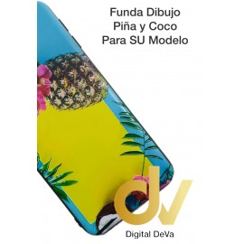 DV  A7 2018  SAMSUNG FUNDA DIBUJO RELIEVE 5D PIÑA