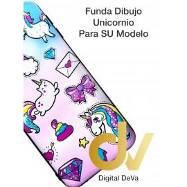 DV  A7 2018  SAMSUNG FUNDA DIBUJO RELIEVE 5D UNICORNIOS