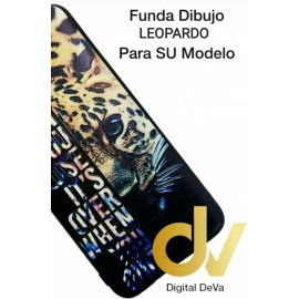 DV  A7 2018  SAMSUNG FUNDA DIBUJO RELIEVE 5D ANIMAL PRINT LEOPARDO