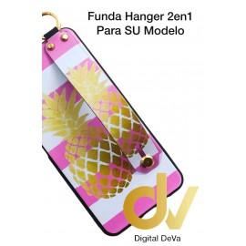 A7 2018 SAMSUNG FUNDA Hanger 2 en 1 PIÑA DORADA