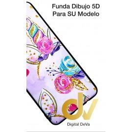 DV  A7 2018  SAMSUNG FUNDA DIBUJO RELIEVE 5D UNICORNIO
