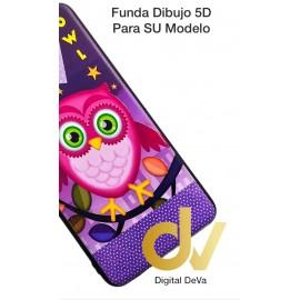 DV  A7 2018  SAMSUNG FUNDA DIBUJO RELIEVE 5D BUHO