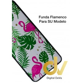 DV  A7 2018  SAMSUNG FUNDA DIBUJO RELIEVE 5D FLAMINGOS