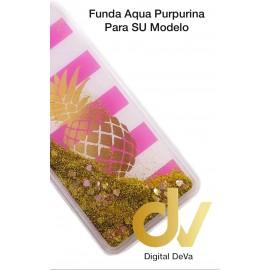 DV  A7 2018  SAMSUNG FUNDA AGUA  PURPURINA PIÑA DORADA