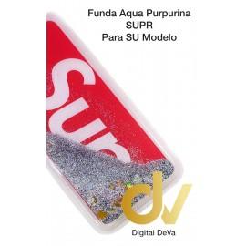 A7 2018  SAMSUNG FUNDA Agua Purpurina SUPR