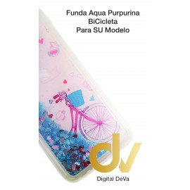 A9 2018 / A9 2019 SAMSUNG FUNDA Agua Purpurina BICICLETA